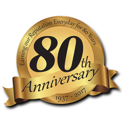 We celebrated our 80th anniversary in 2017.