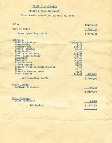 Invoice from 1945
